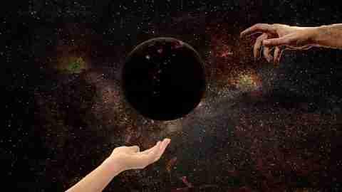 God created heaven and earth.