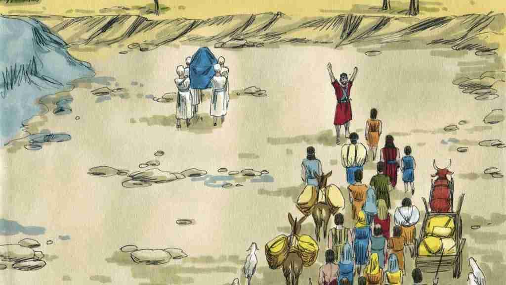Israelites crossing the Jordan River