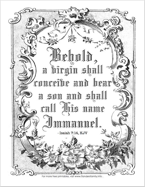 Isaiah's prophesy of Immanuel